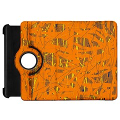 Orange pattern Kindle Fire HD Flip 360 Case