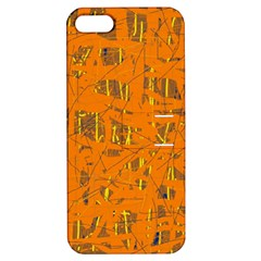 Orange pattern Apple iPhone 5 Hardshell Case with Stand
