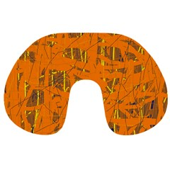 Orange pattern Travel Neck Pillows