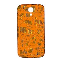 Orange pattern Samsung Galaxy S4 I9500/I9505  Hardshell Back Case