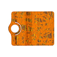 Orange pattern Kindle Fire HD (2013) Flip 360 Case