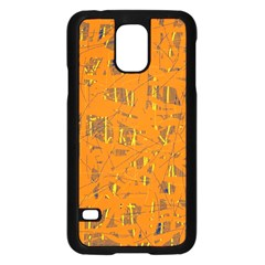 Orange pattern Samsung Galaxy S5 Case (Black)