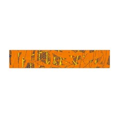 Orange Pattern Flano Scarf (mini)