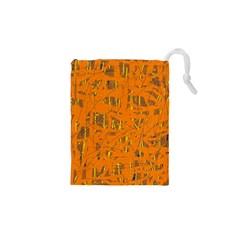 Orange pattern Drawstring Pouches (XS)
