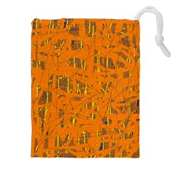 Orange Pattern Drawstring Pouches (xxl)