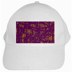 Purple pattern White Cap
