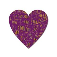 Purple pattern Heart Magnet