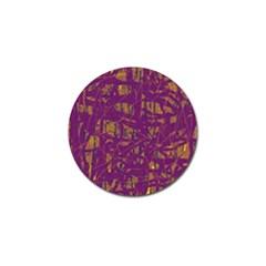 Purple pattern Golf Ball Marker (10 pack)