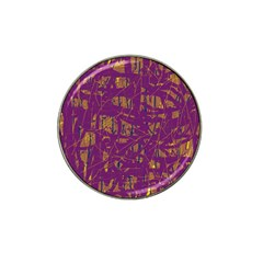 Purple pattern Hat Clip Ball Marker (10 pack)