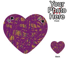 Purple pattern Playing Cards 54 (Heart)