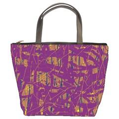 Purple pattern Bucket Bags