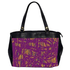 Purple pattern Office Handbags (2 Sides)