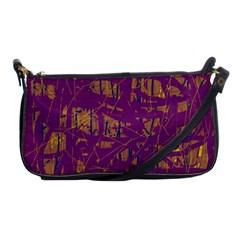 Purple pattern Shoulder Clutch Bags