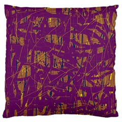 Purple pattern Large Cushion Case (Two Sides)
