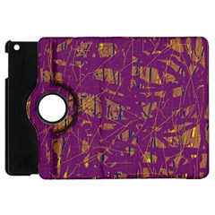 Purple pattern Apple iPad Mini Flip 360 Case