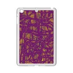 Purple pattern iPad Mini 2 Enamel Coated Cases