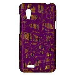 Purple pattern HTC Desire VT (T328T) Hardshell Case