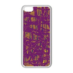 Purple pattern Apple iPhone 5C Seamless Case (White)