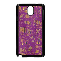 Purple pattern Samsung Galaxy Note 3 Neo Hardshell Case (Black)