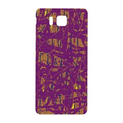 Purple pattern Samsung Galaxy Alpha Hardshell Back Case