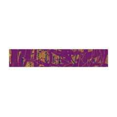 Purple pattern Flano Scarf (Mini)