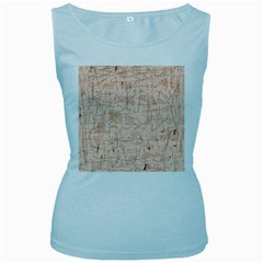 Elegant patterns Women s Baby Blue Tank Top