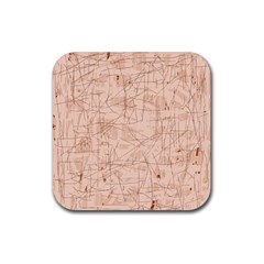 Elegant patterns Rubber Coaster (Square)