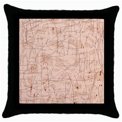 Elegant patterns Throw Pillow Case (Black)
