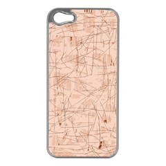 Elegant patterns Apple iPhone 5 Case (Silver)