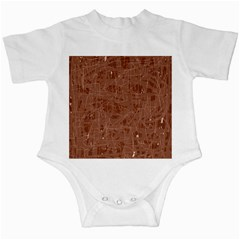 Brown pattern Infant Creepers