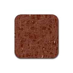 Brown pattern Rubber Coaster (Square)