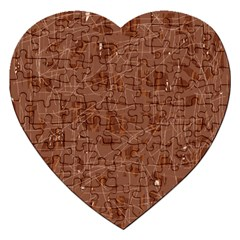 Brown pattern Jigsaw Puzzle (Heart)