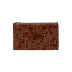 Brown pattern Cosmetic Bag (Small)