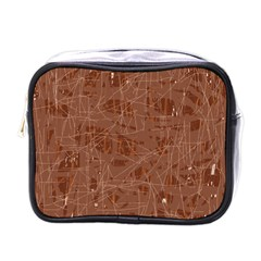 Brown pattern Mini Toiletries Bags