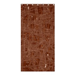 Brown pattern Shower Curtain 36  x 72  (Stall)