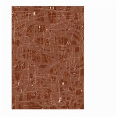 Brown pattern Large Garden Flag (Two Sides)