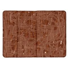 Brown pattern Kindle Fire (1st Gen) Flip Case