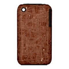 Brown pattern Apple iPhone 3G/3GS Hardshell Case (PC+Silicone)