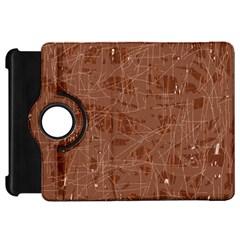 Brown pattern Kindle Fire HD Flip 360 Case
