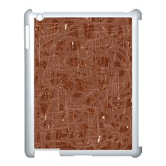 Brown pattern Apple iPad 3/4 Case (White)