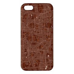 Brown pattern Apple iPhone 5 Premium Hardshell Case