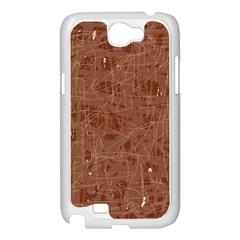 Brown pattern Samsung Galaxy Note 2 Case (White)