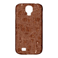 Brown pattern Samsung Galaxy S4 Classic Hardshell Case (PC+Silicone)