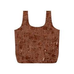 Brown pattern Full Print Recycle Bags (S)