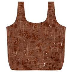 Brown pattern Full Print Recycle Bags (L)