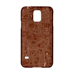 Brown pattern Samsung Galaxy S5 Hardshell Case