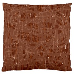 Brown pattern Standard Flano Cushion Case (One Side)