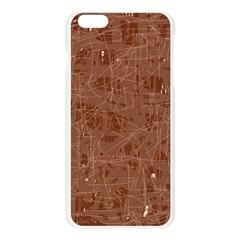 Brown pattern Apple Seamless iPhone 6 Plus/6S Plus Case (Transparent)