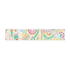 Hippie Flowers Pattern, Pink Blue Green, Zz0101 Flano Scarf (Mini)