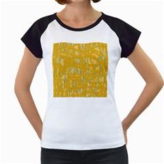 Yellow pattern Women s Cap Sleeve T